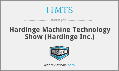 HMTS - Hardinge Machine Technology Show (Hardinge Inc.)