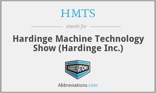 HMTS - Hardinge Machine Technology Show (Hardinge Inc.)