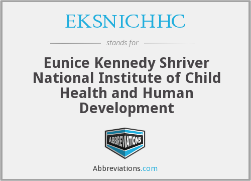 What does EKSNICHHC stand for?