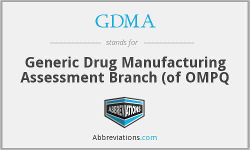 What does GDMA stand for?