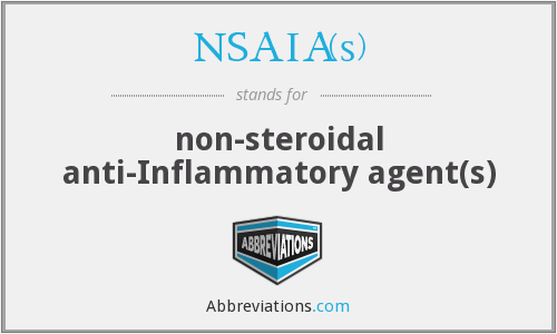 What does NSAIA(S) stand for?