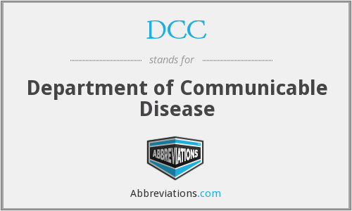 DCC - Department of Communicable Disease