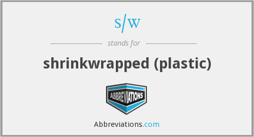 s/w - shrinkwrapped (plastic)