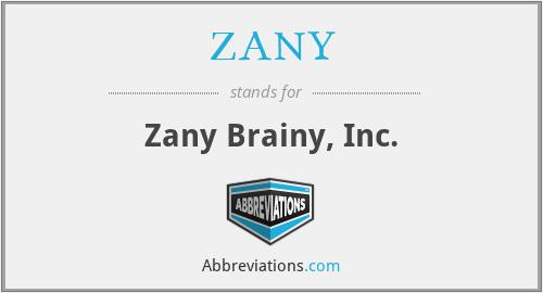 ZANY - Zany Brainy, Inc.