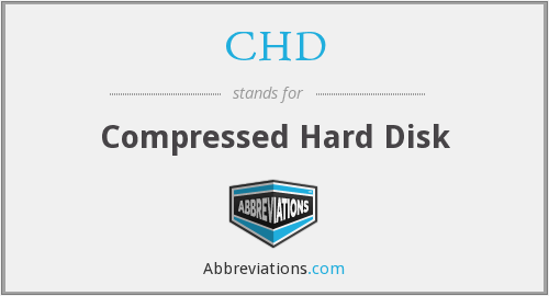 CHD - Compressed Hard Disk