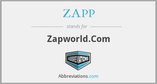 ZAPP - Zapworld.Com