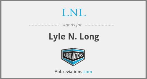 LNL - Lyle N. Long