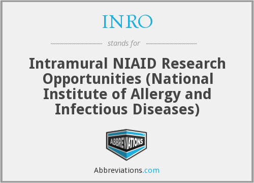 INRO - Intramural NIAID Research Opportunities (National Institute of Allergy and Infectious Diseases)