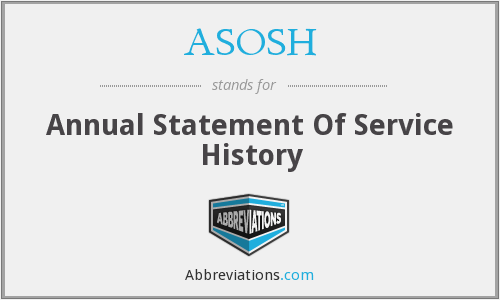 What does ASOSH stand for?