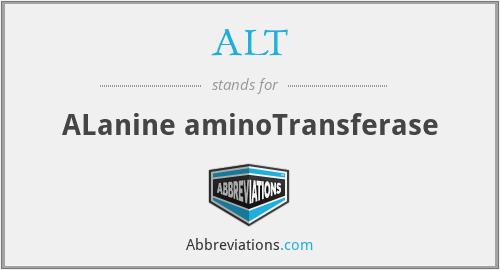 ALT - ALanine aminoTransferase