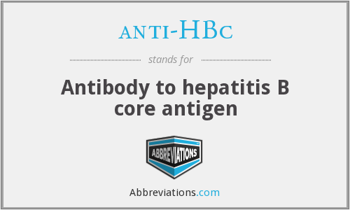 What does ANTI-HBC stand for?