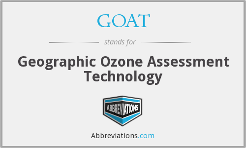 GOAT - Geographic Ozone Assessment Technology