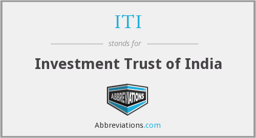 ITI - Investment Trust of India