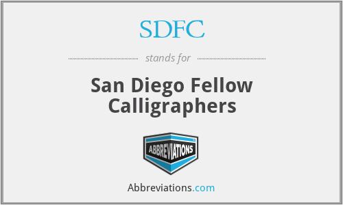 SDFC - San Diego Fellow Calligraphers