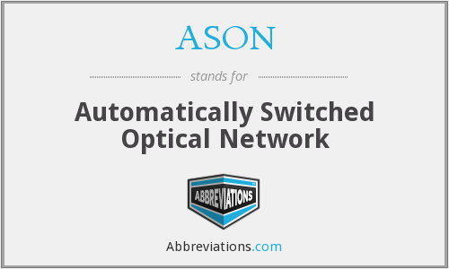 ASON - Automatically Switched Optical Network