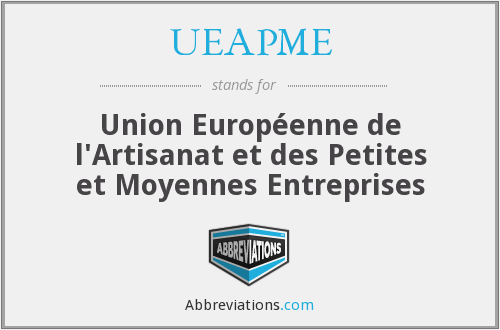 What does UEAPME stand for?