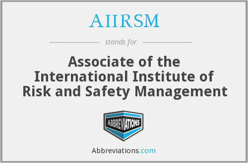 What does AIIRSM stand for?