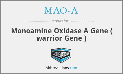 MAO-A - Monoamine Oxidase A Gene ( warrior Gene )