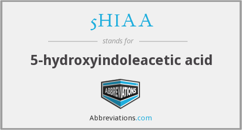 5HIAA - 5-hydroxyindoleacetic acid