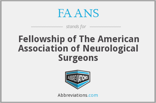 FAANS - Fellowship of The American Association of Neurological Surgeons