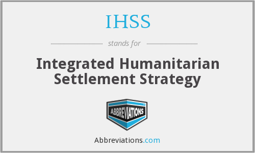 IHSS - Integrated Humanitarian Settlement Strategy