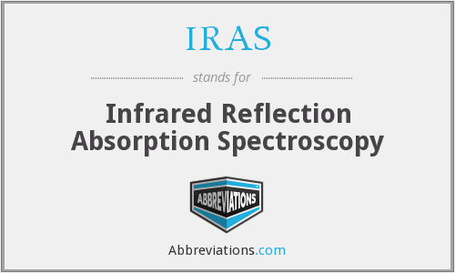 IRAS - infrared reflection absorption spectroscopy