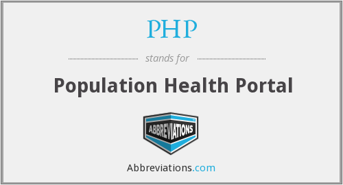 PHP - Population Health Portal