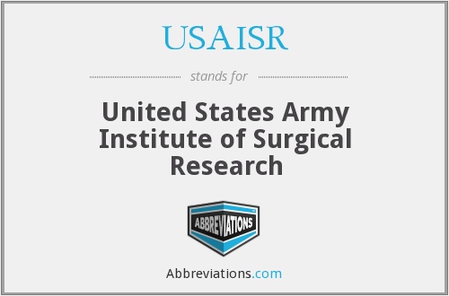 What does USAISR stand for?