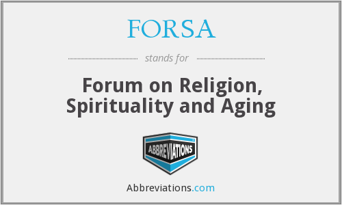 FORSA - Forum on Religion, Spirituality and Aging