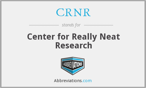 CRNR - Center for Really Neat Research