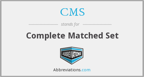 CMS - complete matched set