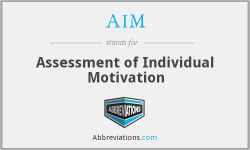 AIM - Assessment of Individual Motivation