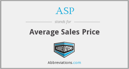 ASP - average sales price