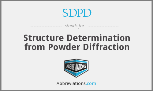 SDPD - Structure Determination from Powder Diffraction