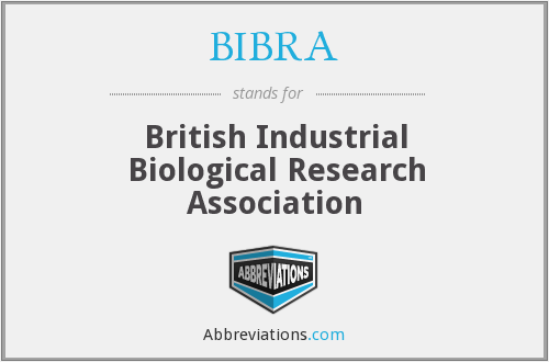 What does BIBRA stand for?