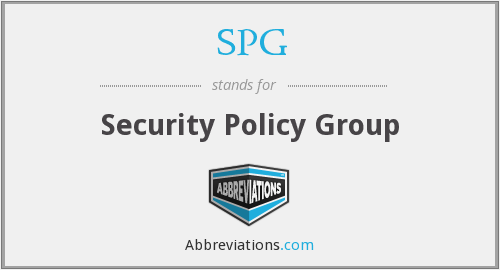 SPG - Security Policy Group