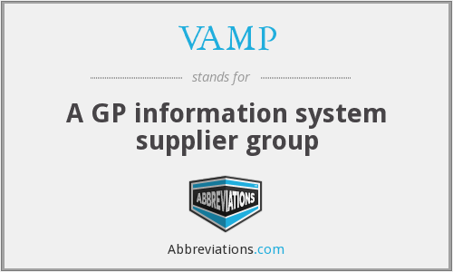 VAMP - A GP information system supplier group