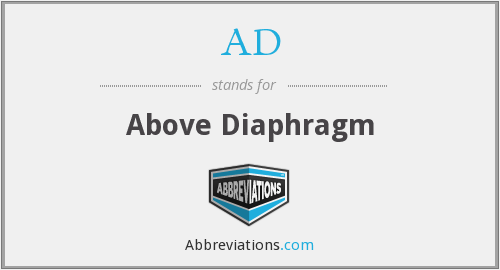 AD - above diaphragm