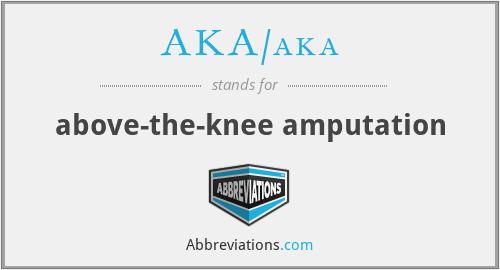 What does AKA/AKA stand for?