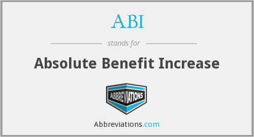 ABI - Absolute Benefit Increase