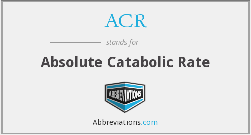ACR - Absolute Catabolic Rate