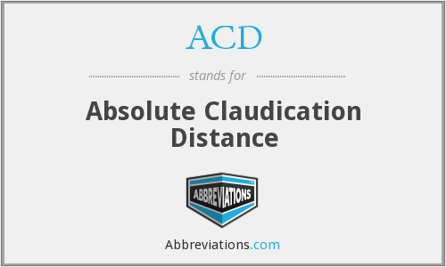 ACD - absolute claudication distance