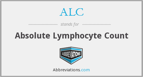 ALC - absolute lymphocyte count