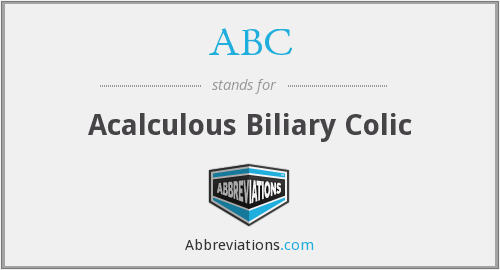 ABC - acalculous biliary colic