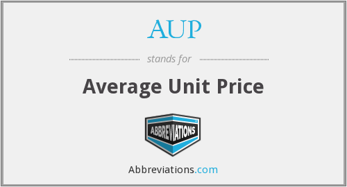 AUP - Average Unit Price