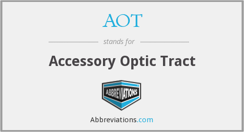 AOT - accessory optic tract