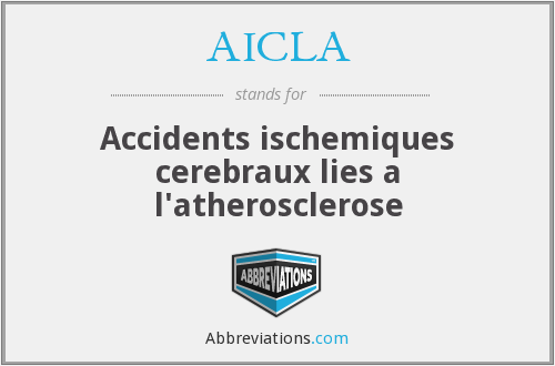 AICLA - Accidents ischemiques cerebraux lies a l'atherosclerose