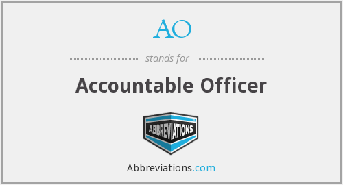AO - Accountable Officer