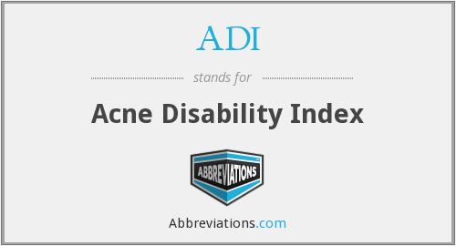 ADI - Acne Disability Index