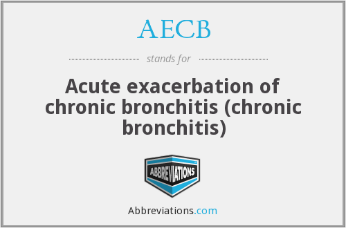 AECB - Acute exacerbation of chronic bronchitis (chronic bronchitis)